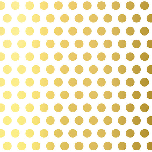 American Crafts - Dear Lizzy 5th and Frolic Collection - 12 x 12 Gold Dot Foil Vellum Paper - Treasured Terrace