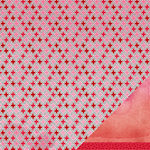 American Crafts Paper - XOXO Collection - 12 x 12 Double Sided Paper - Kiss