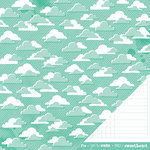 American Crafts Paper - XOXO Collection - 12 x 12 Double Sided Paper - Love is in the Air