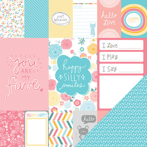 American Crafts - My Girl Collection - 12 x 12 Double Sided Paper - Precious Penny