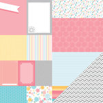 American Crafts - My Girl Collection - 12 x 12 Double Sided Paper - Sunny Savannah