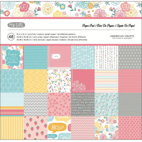 American Crafts - My Girl Collection - 12 x 12 Paper Pad