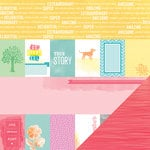 American Crafts - Amy Tangerine Collection - Yes, Please - 12 x 12 Double Sided Paper - Share