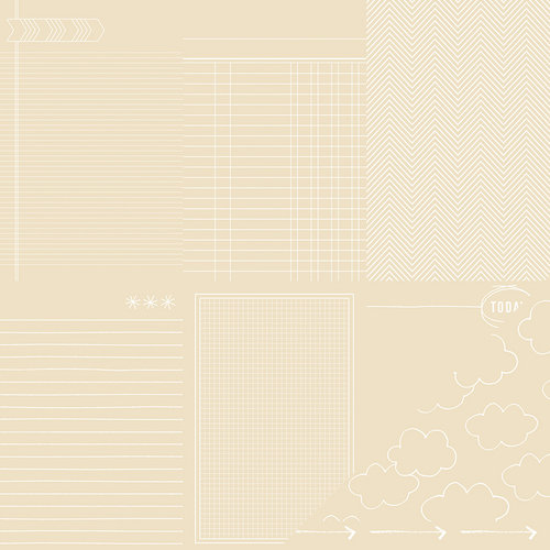 American Crafts - Amy Tangerine Collection - Yes, Please - 12 x 12 Kraft Paper - Trust
