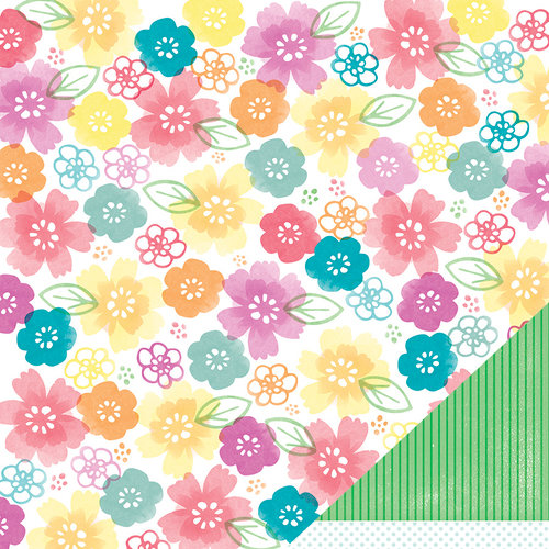 American Crafts - Amy Tangerine Collection - Yes, Please - 12 x 12 Double Sided Paper - Fulfill