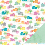 American Crafts - Amy Tangerine Collection - Yes, Please - 12 x 12 Double Sided Paper - Heart