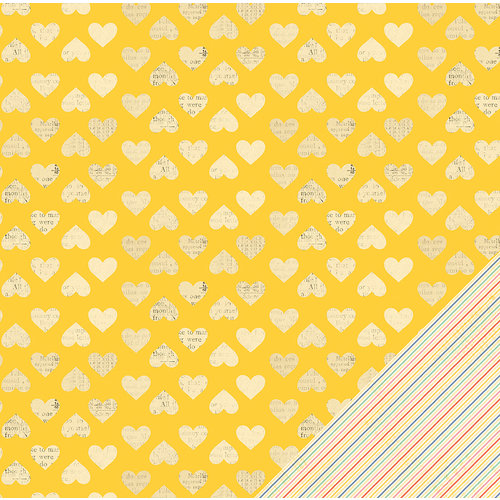 American Crafts - Dear Lizzy Lucky Charm Collection - 12 x 12 Double Sided Paper - Wild Hearts