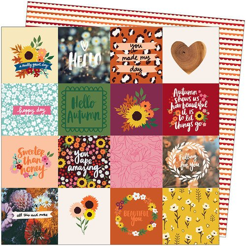 American Crafts - Late Afternoon Collection - 12 x 12 Double Sided Paper - All This and More
