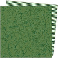 American Crafts - Late Afternoon Collection - 12 x 12 Double Sided Paper - Go Green