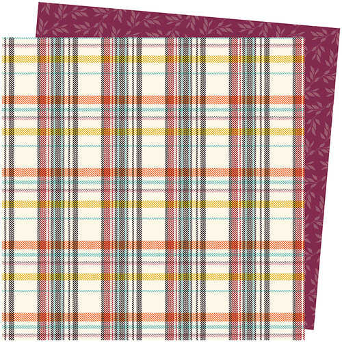 American Crafts - Late Afternoon Collection - 12 x 12 Double Sided Paper - Warm and Cozy