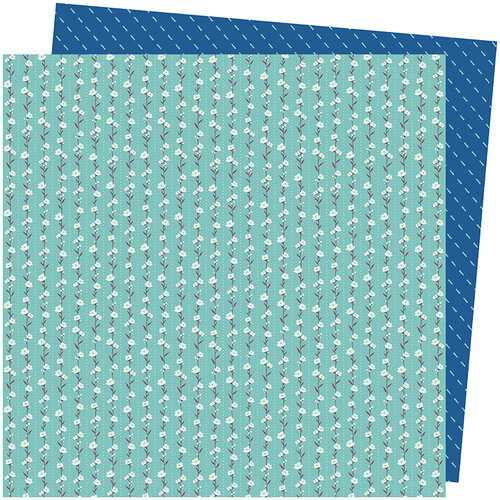 American Crafts - Late Afternoon Collection - 12 x 12 Double Sided Paper - Floral Lane