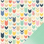 American Crafts - Dear Lizzy Lucky Charm Collection - 12 x 12 Double Sided Paper - Noteworthy