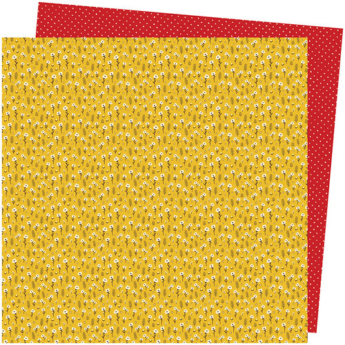 American Crafts - Late Afternoon Collection - 12 x 12 Double Sided Paper - Marigold Meadows