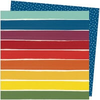 Amy Tangerine - Late Afternoon Collection - 12 x 12 Double Sided Paper - Rainbow Lane