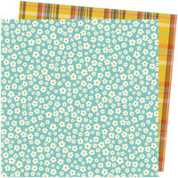 American Crafts - Late Afternoon Collection - 12 x 12 Double Sided Paper - Stitched Together
