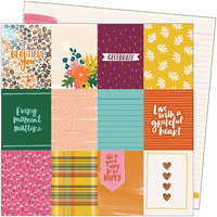 American Crafts - Late Afternoon Collection - 12 x 12 Double Sided Paper - Beautiful You