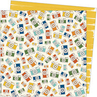 American Crafts - Late Afternoon Collection - 12 x 12 Double Sided Paper - Afternoon Outing