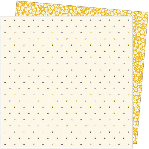 American Crafts - Late Afternoon Collection - 12 x 12 Double Sided Paper - Sweeter Than Honey