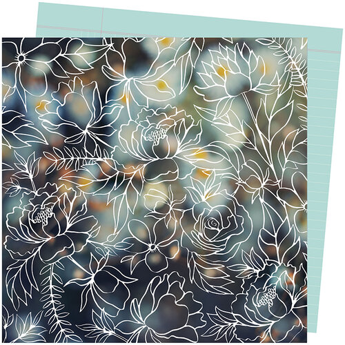 American Crafts - Late Afternoon Collection - 12 x 12 Double Sided Paper - Make A Wish