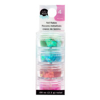 American Crafts - Color Pour Resin Collection - Foil Flakes - Primary