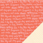 American Crafts - Dear Lizzy Lucky Charm Collection - 12 x 12 Double Sided Paper - Blue Skies
