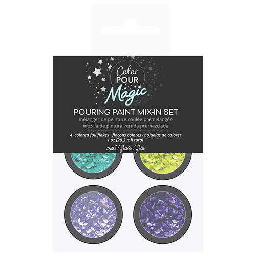 American Crafts - Color Pour Magic Collection - Foil Flakes - Cool