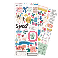Crate Paper - Sweet Story Collection - 6 x 12 Cardstock Stickers