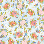 American Crafts - 12 x 12 Single Sided Paper - Light Floral