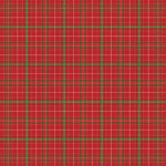 American Crafts - 12 x 12 Single Sided Paper - Red Plaid