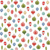 American Crafts - Christmas - 12 x 12 Single Sided Paper - Ornaments