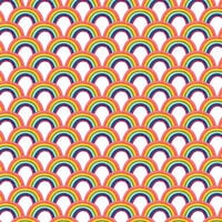 American Crafts - 12 x 12 Single Sided Paper - Rainbows