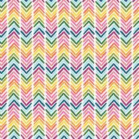 American Crafts - 12 x 12 Single Sided Paper - Rainbow Chevron