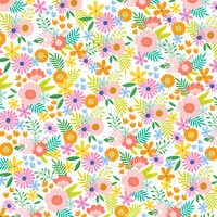 American Crafts - 12 x 12 Single Sided Paper - Summer Bouquet