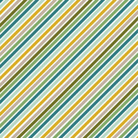 American Crafts - 12 x 12 Single Sided Paper - Jungle Stripes