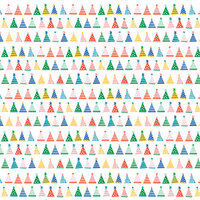 American Crafts - 12 x 12 Single Sided Paper - Party Hats
