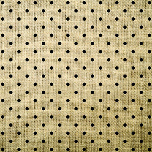 American Crafts - DIY Specialty Paper Collection - 12 x 12 Printed Burlap - Polka Dot