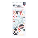 Pink Paislee - Solstice Collection - Puffy Stickers