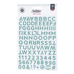 Pink Paislee - Solstice Collection - Glitter Stickers - Alphabet - Blue