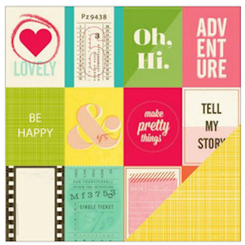 American Crafts - Shimelle Collection - 12 x 12 Double Sided Paper - Goodall