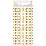 American Crafts - Shimelle Collection - Thickers - Foil Chipboard - Dunbar - Gold