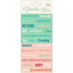 American Crafts - Shimelle Collection - Cardstock Stickers - Phrase and Alphabet
