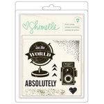 American Crafts - Shimelle Collection - Clear Acrylic Stamps - Small - See The World