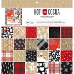 American Crafts - Christmas - 12 x 12 Paper Pad - Hot Cocoa
