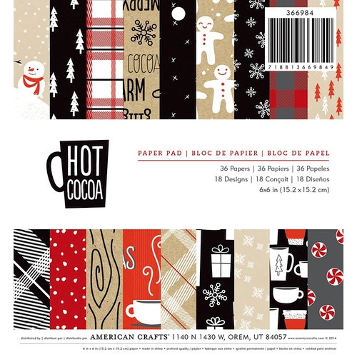American Crafts Hot Cocoa 6x6 pad