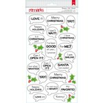 American Crafts - Christmas - Stickers - Word Bubble