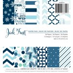American Crafts - Christmas - 6 x 6 Paper Pad - Jack Frost