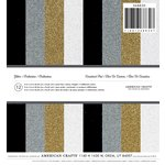American Crafts - Christmas - 6 x 6 Specialty Paper - Glitter Paper - Silver, Gold and Black