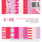 American Crafts - Valentines Collection - 6 x 6 Paper Pad - Be Mine