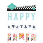 Heidi Swapp - September Skies Collection - Stitched Banners