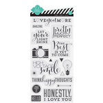 Heidi Swapp - September Skies Collection - Clear Acrylic Stamps